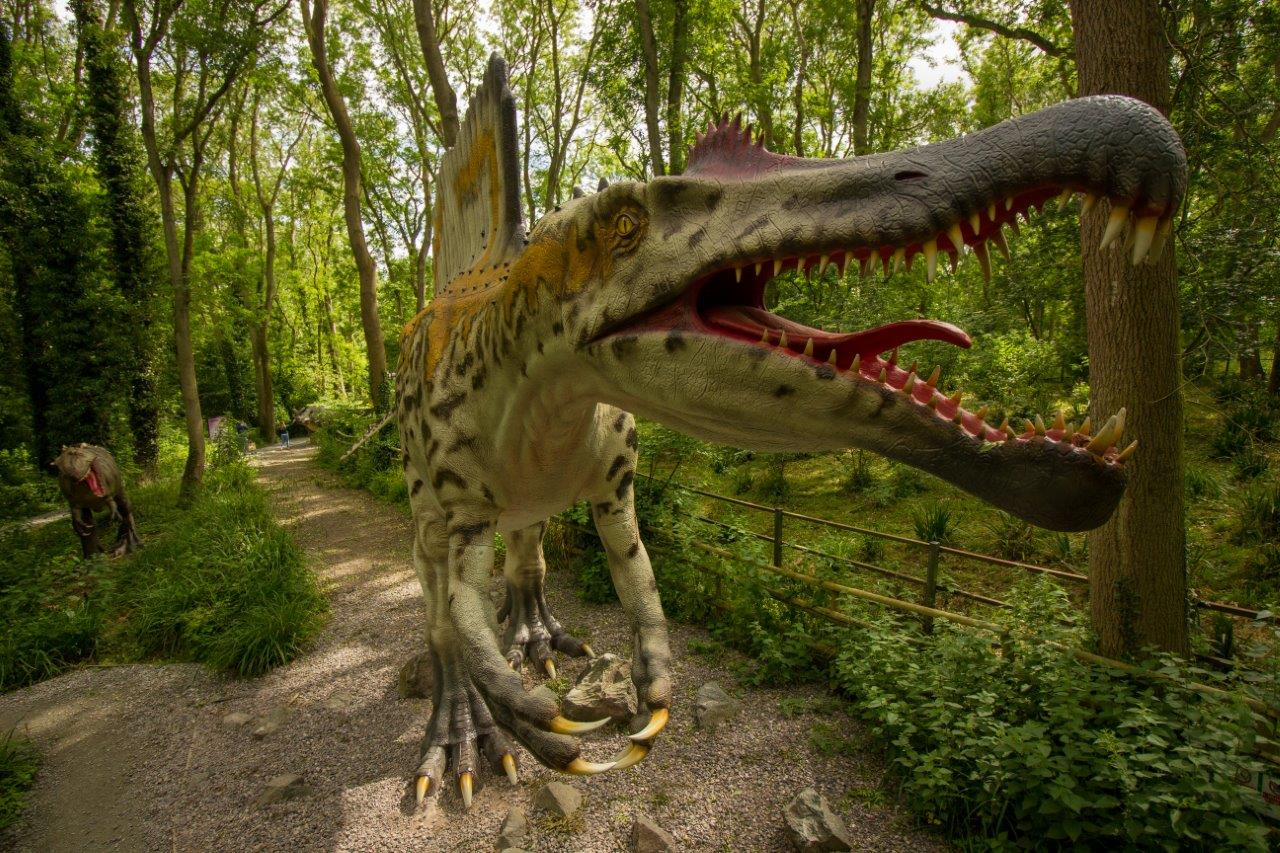 See the spine tinging Spinosaurus in Dinosaur Forest at Port Lympne Reserve c Port Lympne Reserve
