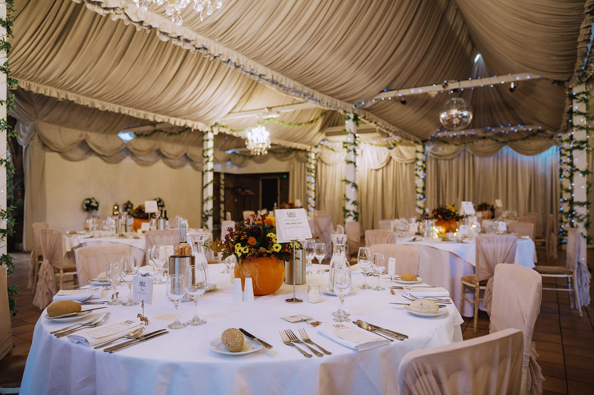 A look inside the wedding decor