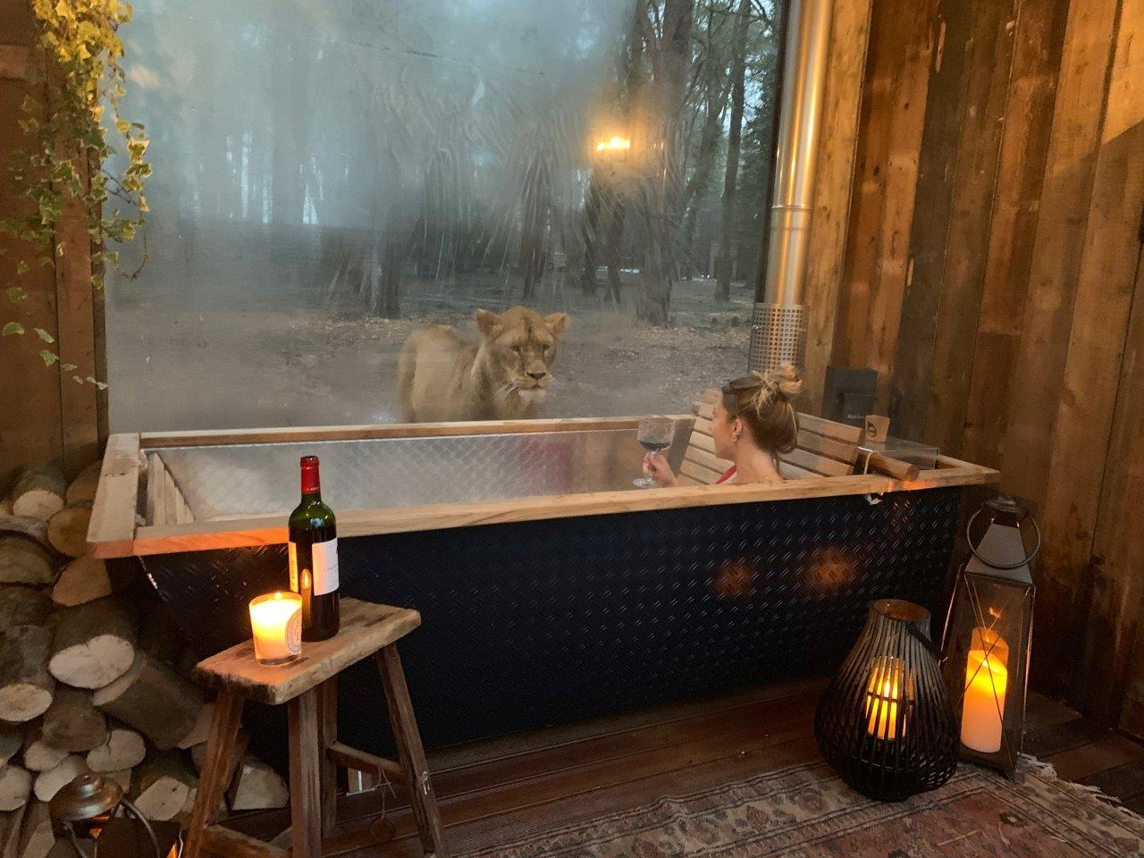 Lion Lodge Port Lympne Outdoor bath-1
